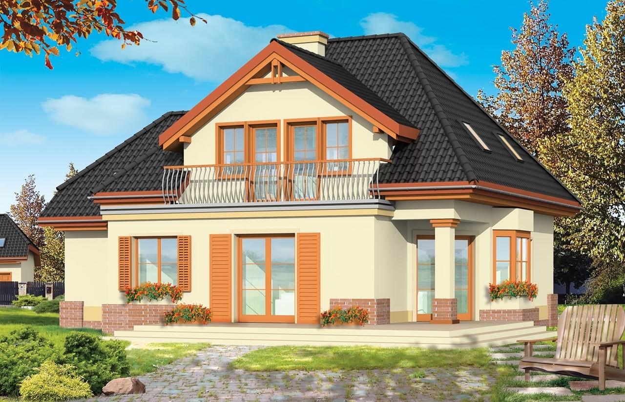 Projekt domu Dom na medal 2 - wizualizacja tylna