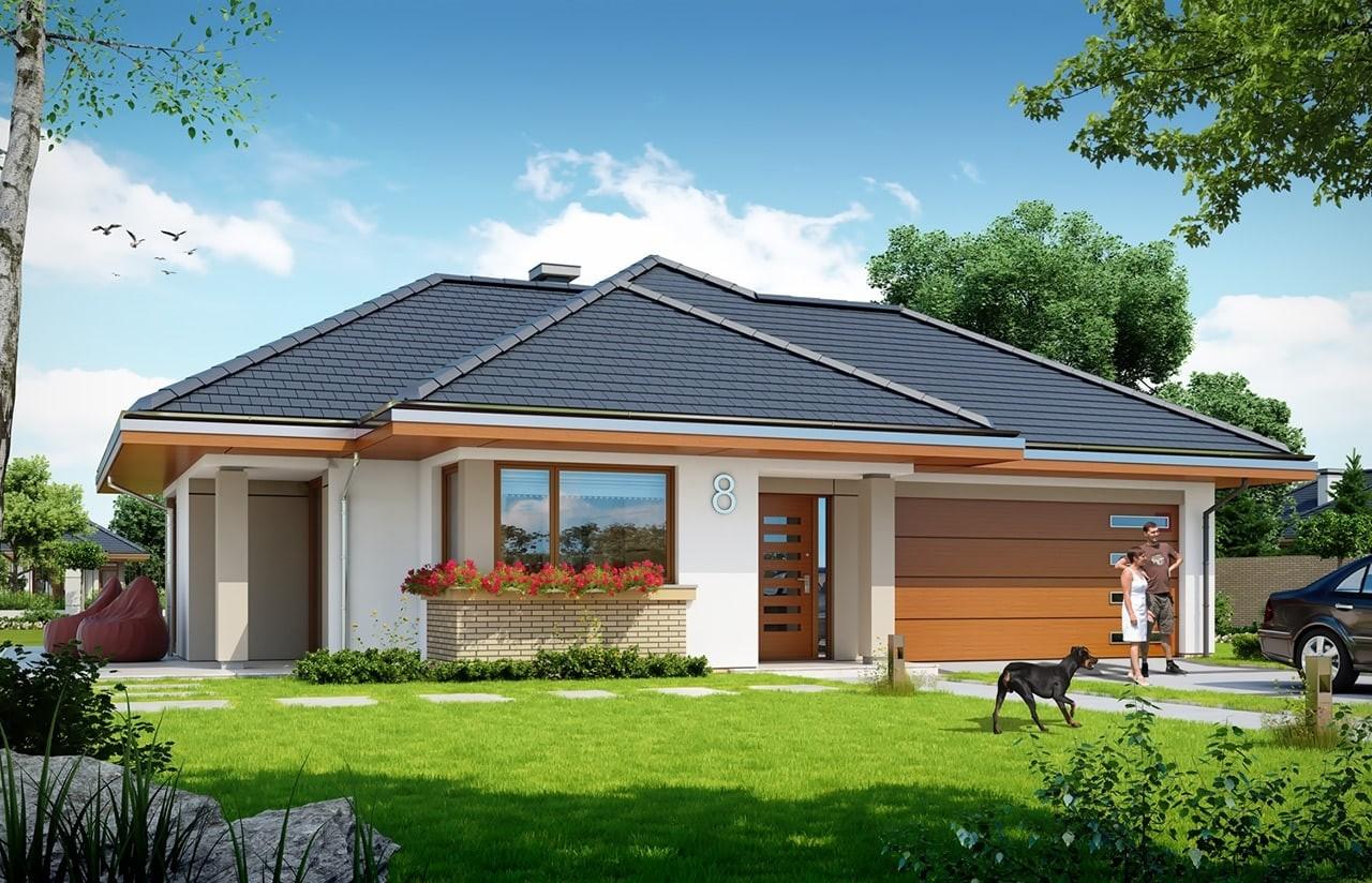 Projekt domu Dom na miarę 2 - wizualizacja frontowa