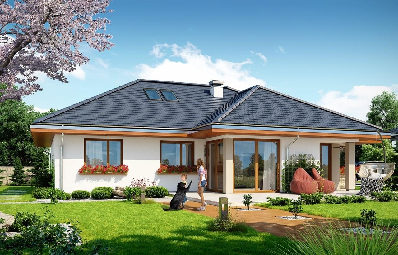 Projekt domu Dom na miarę 2 - wizualizacja tylna