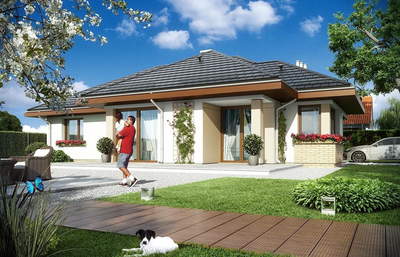Projekt domu Dom na miarę - wizualizacja tylna