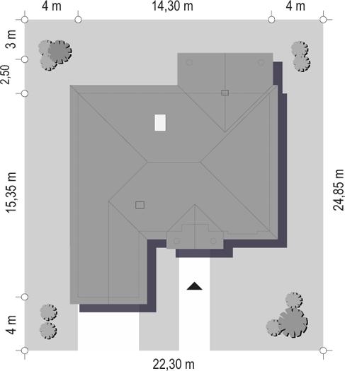 Dom na parkowej 2 - sytuacja