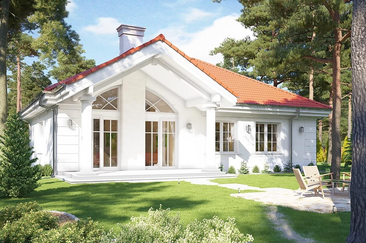Projekt domu Dom na parkowej 2 - wizualizacja tylna