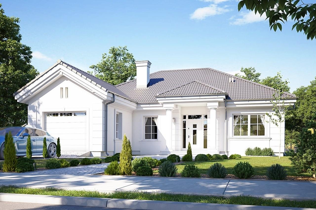 Projekt domu Dom na Parkowej 3 - wizualizacja frontowa
