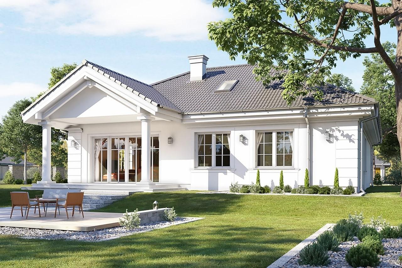 Projekt domu Dom na Parkowej 3 - wizualizacja tylna