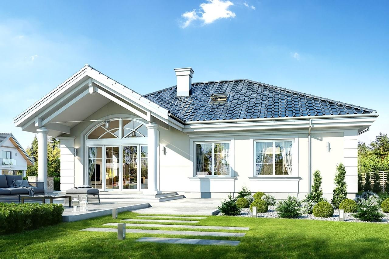 Projekt domu Dom na parkowej 4 - wizualizacja tylna