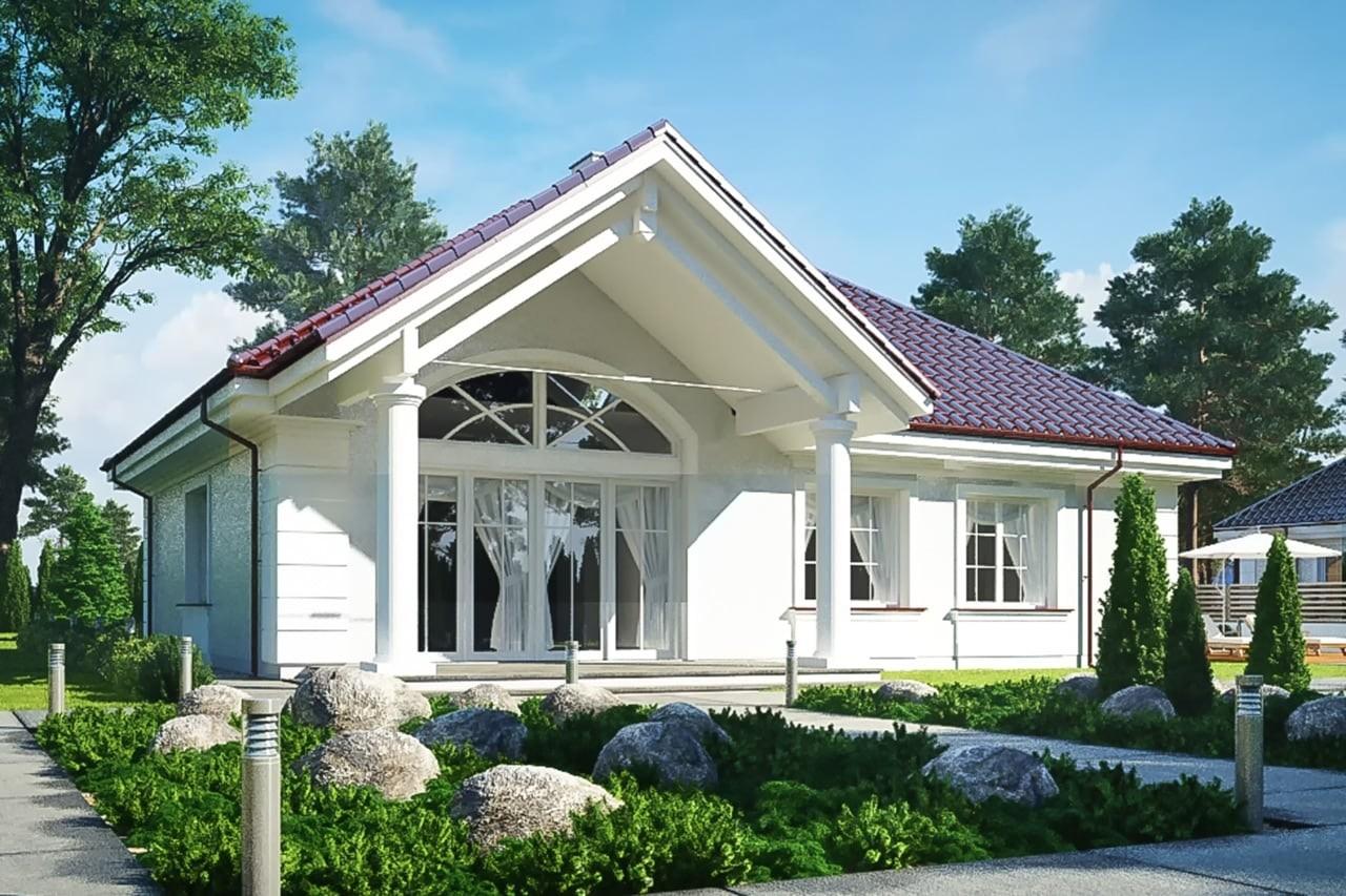 Projekt domu Dom na Parkowej 5 - wizualizacja tylna