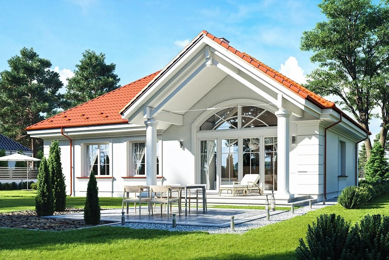 Projekt domu Dom na Parkowej 5 - wizualizacja tylna odbicie lustrzane