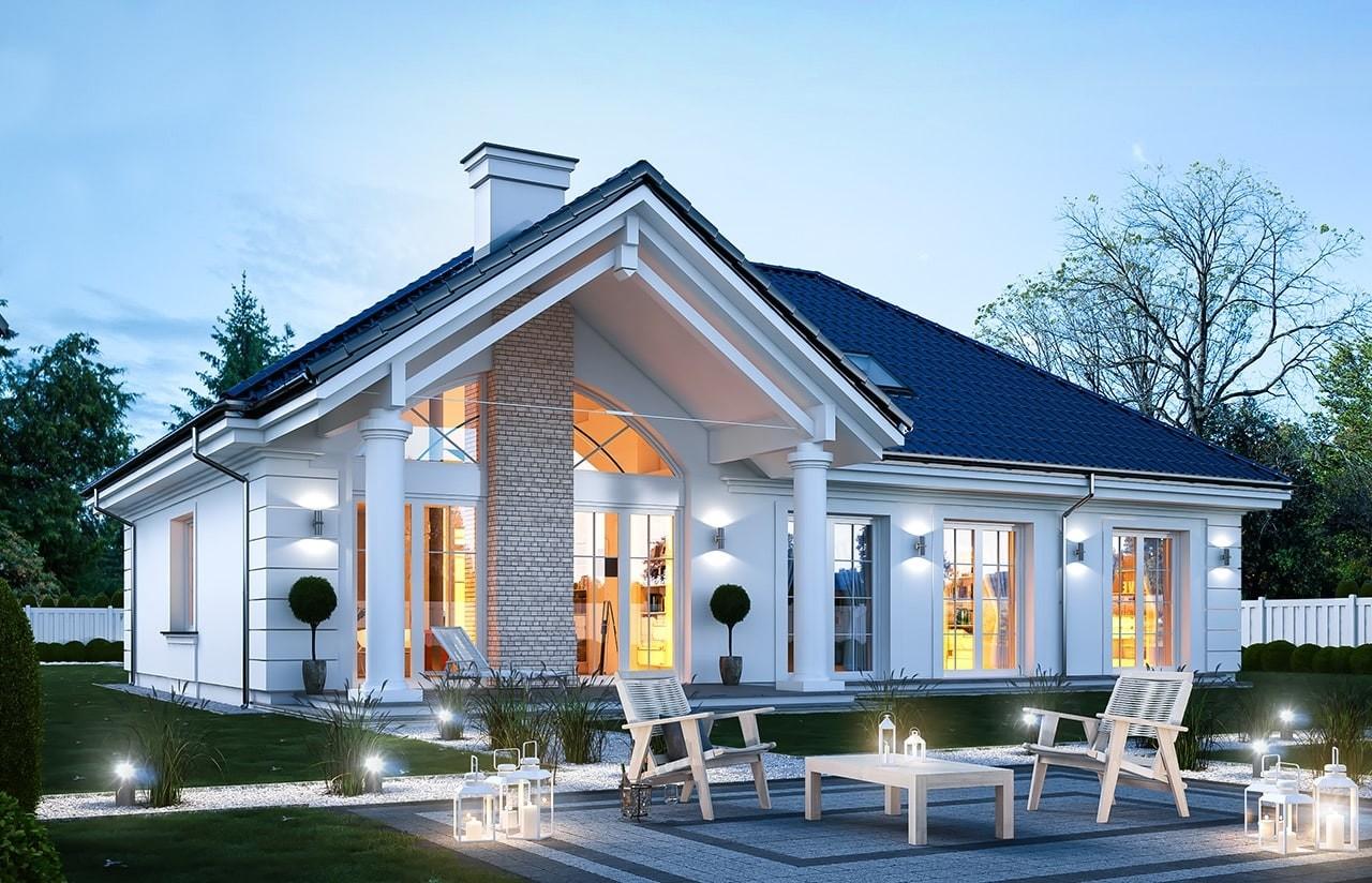 Projekt domu Dom na Parkowej 6 - wizualizacja tylna
