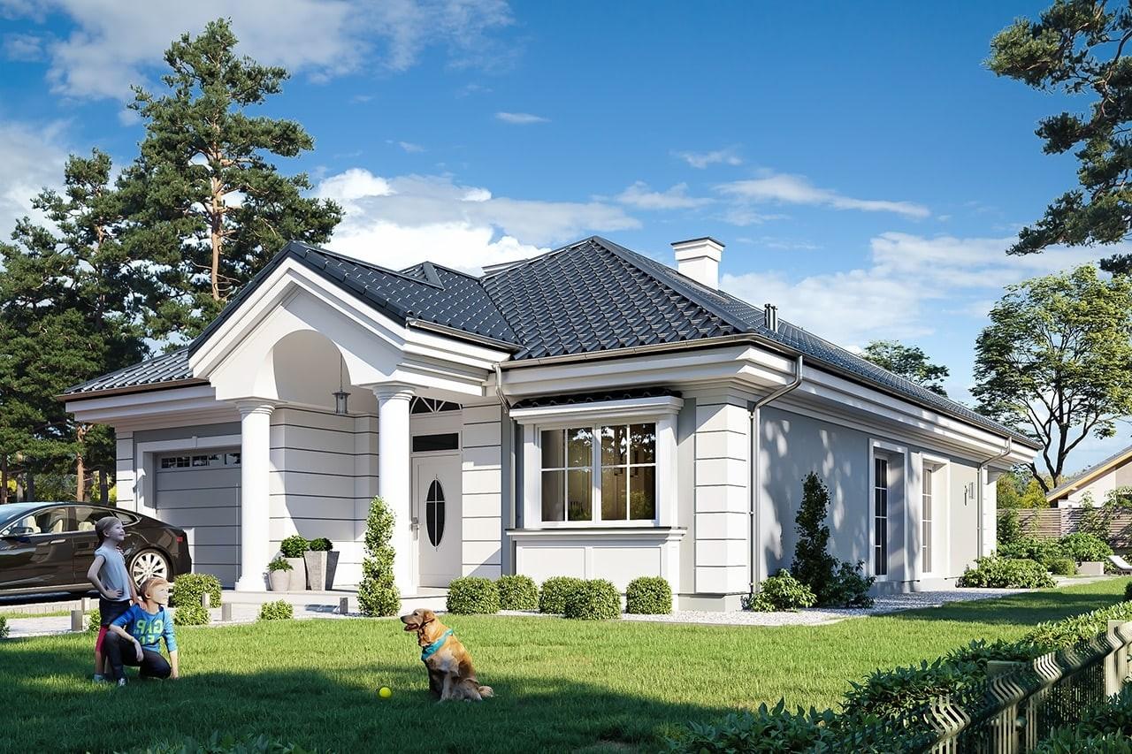 Projekt domu Dom na Parkowej 7 A - wizualizacja frontu