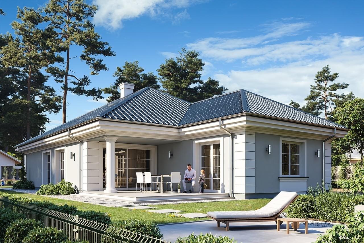 Projekt domu Dom na Parkowej 7 A - wizualizacja tylna