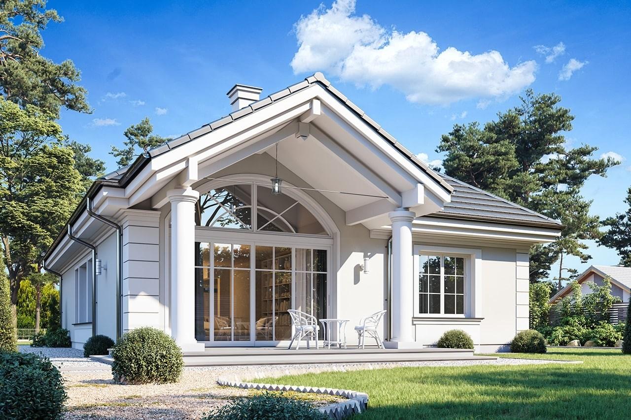 Projekt domu Dom na Parkowej 7 B - wizualizacja tylna