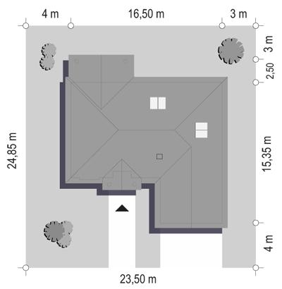Dom na parkowej - sytuacja odbicie lustrzane