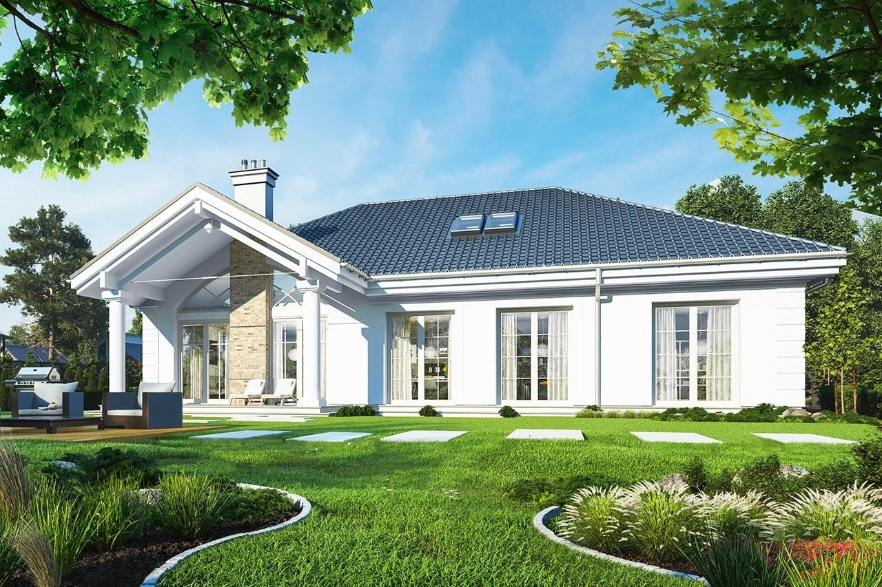 Projekt domu Dom na Parkowej - wizualizacja tylna