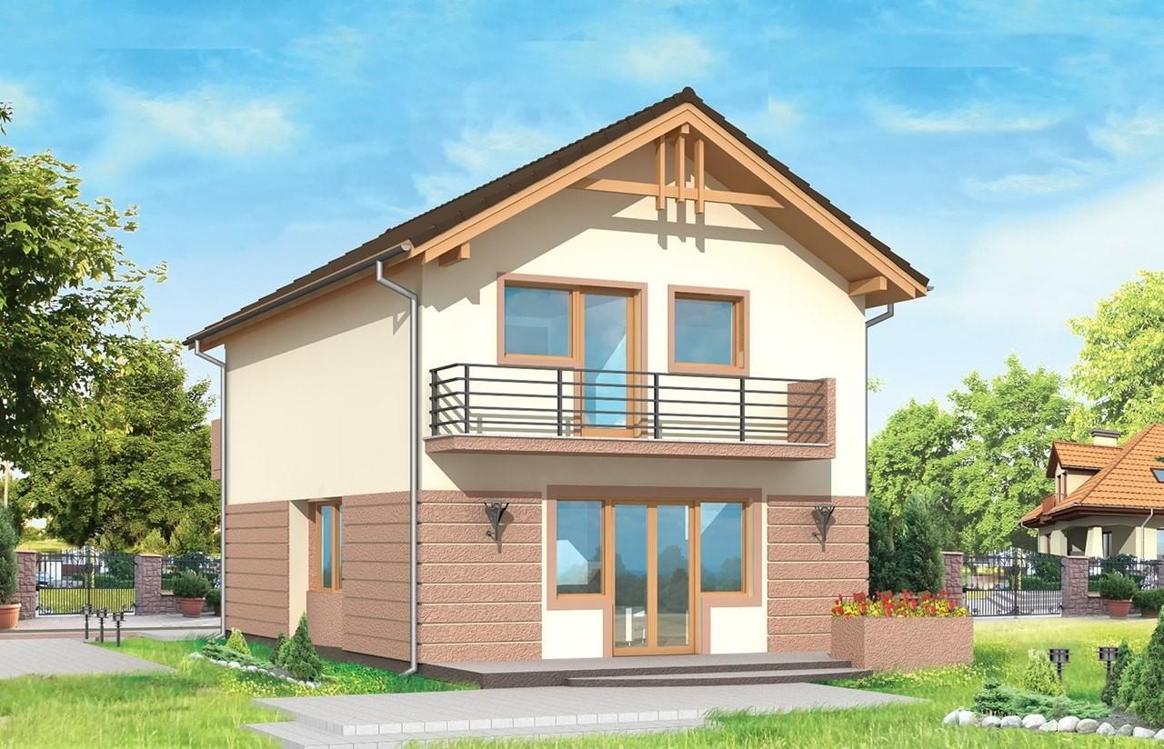 Projekt domu Dom z piętrem - wizualizacja tylna