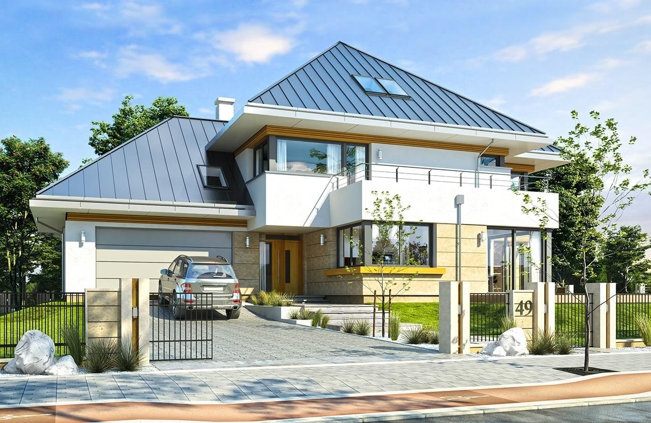 Projekt domu Dom z widokiem 2 C - wizualizacja frontowa