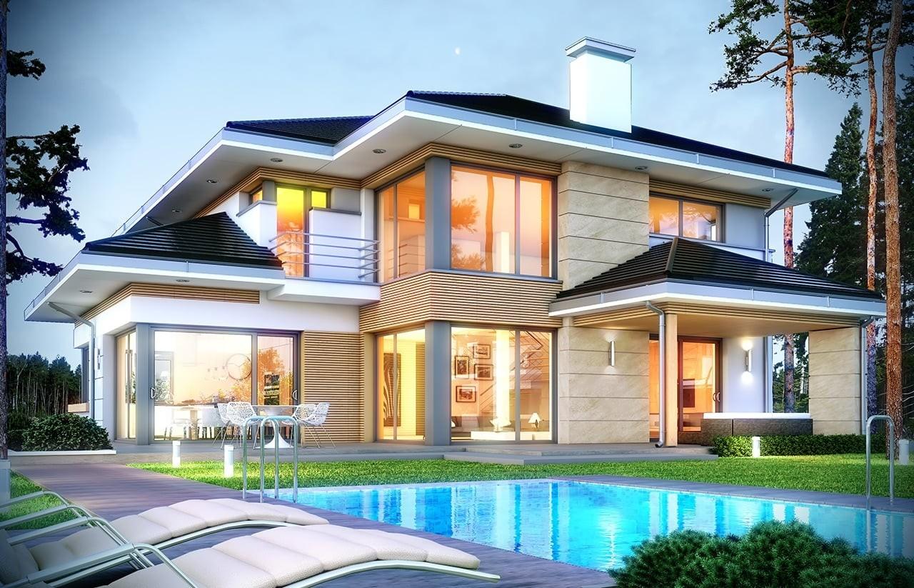 Projekt domu Dom z widokiem 2 - wizualizacja tylna
