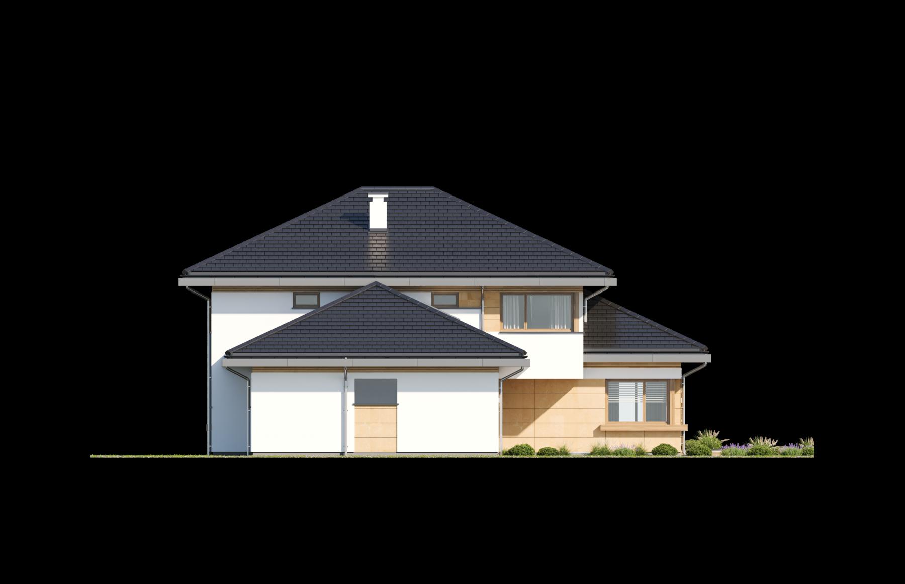 Dom z widokiem 3 wariant B - elewacja boczna odbicie lustrzane
