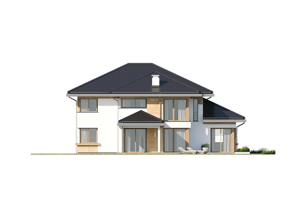 Dom z widokiem 3 wariant B - elewacja boczna