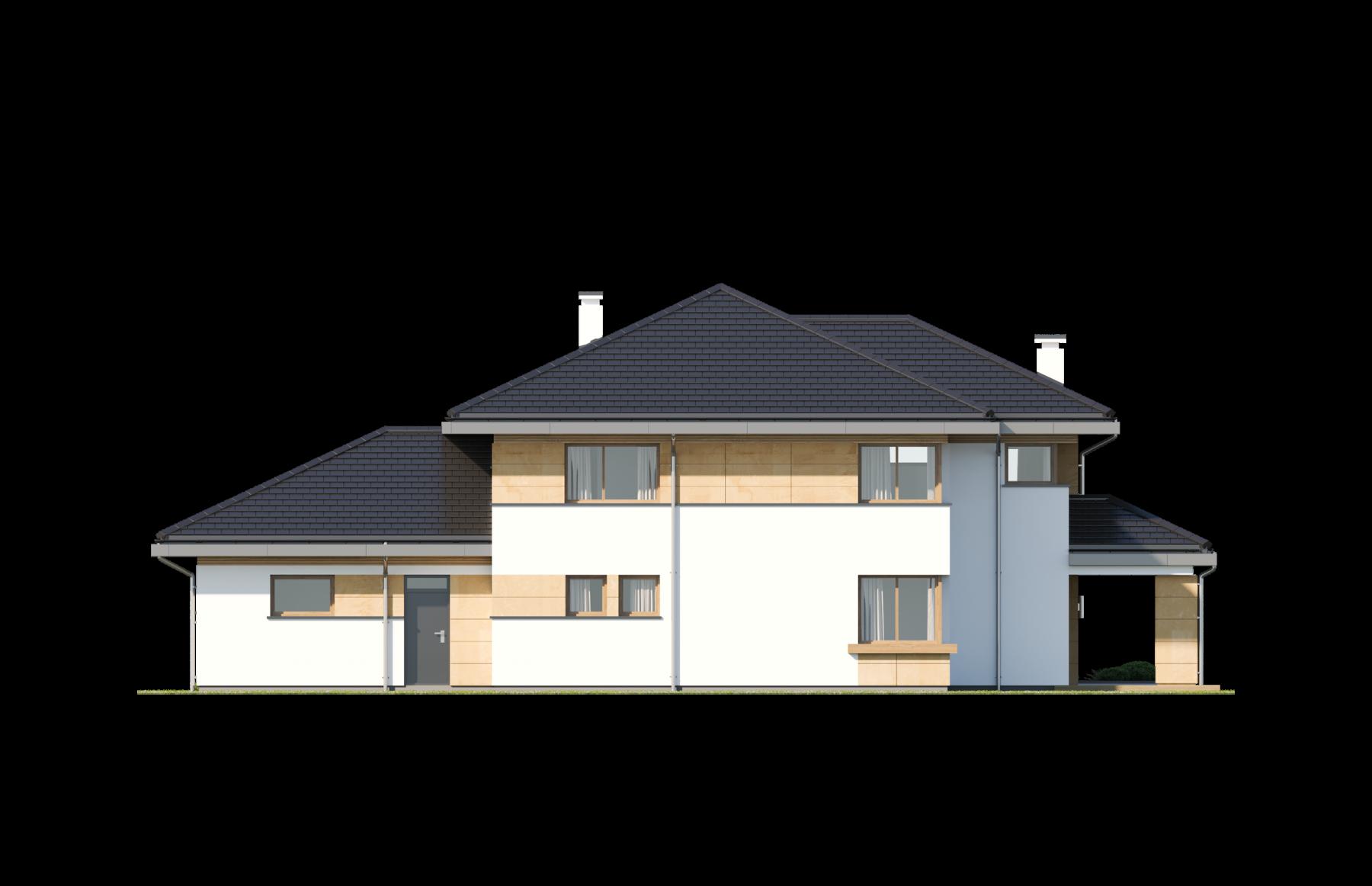 Dom z widokiem 3 wariant B - elewacja ogrodowa