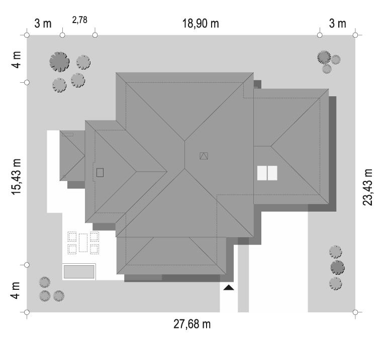 Dom z widokiem 3 wariant B - sytuacja