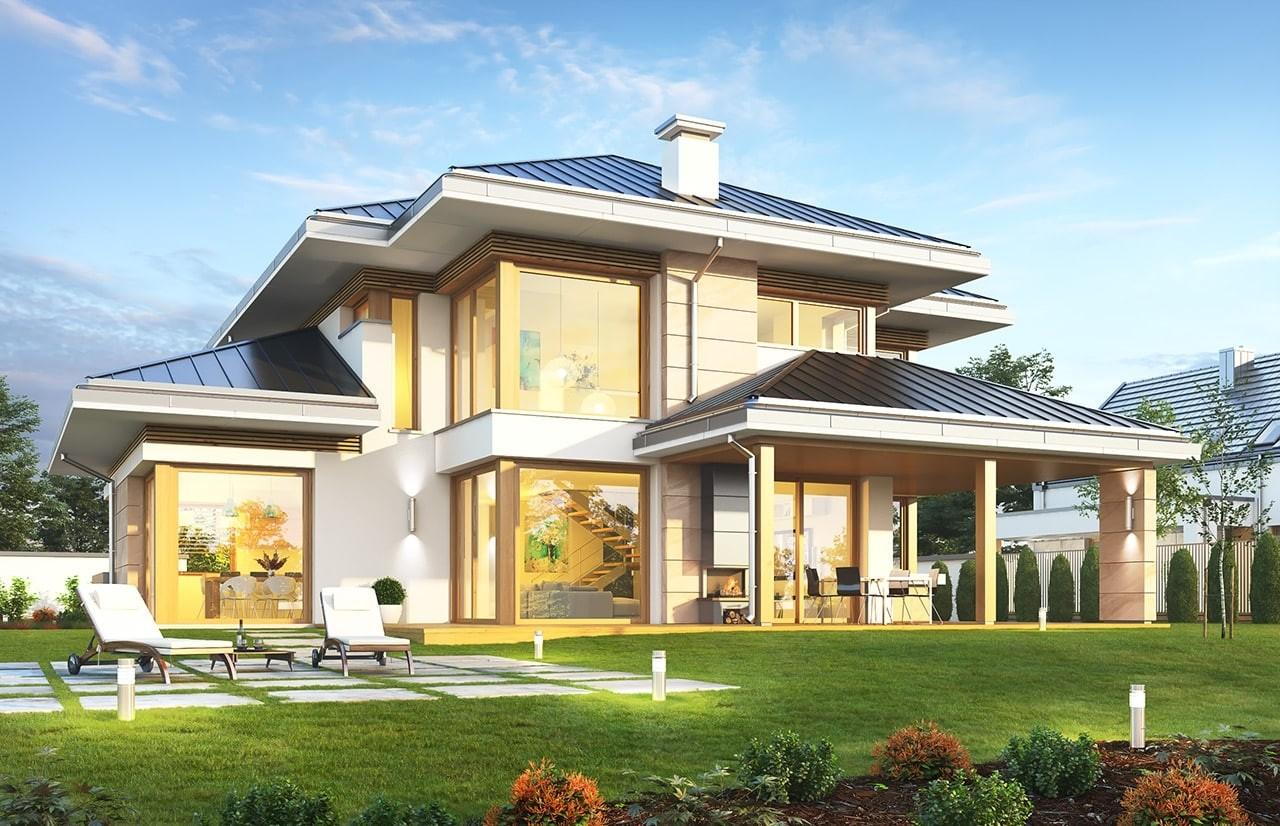 Projekt domu Dom z widokiem 3 F - wizualizacja tylna