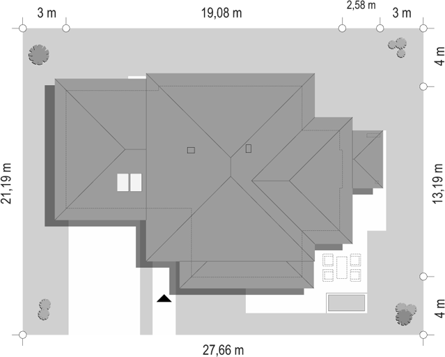 Dom z widokiem 3 - sytuacja odbicie lustrzane