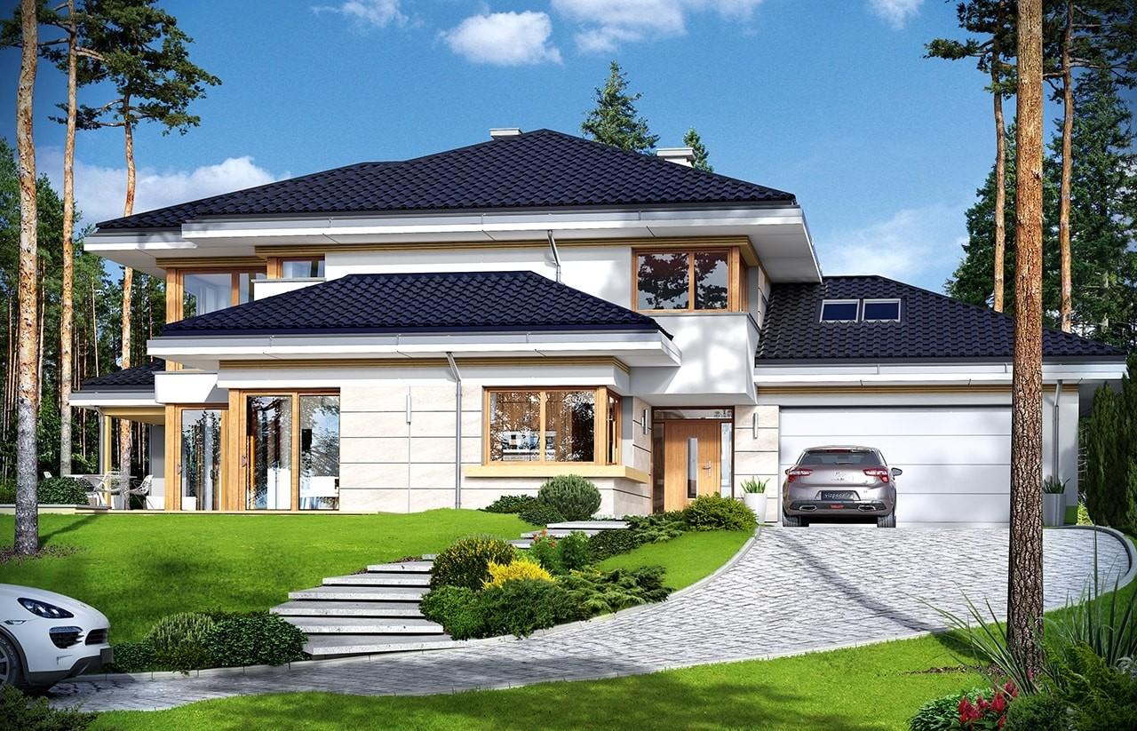 Projekt domu Dom z widokiem 3 - wizualizacja frontowa