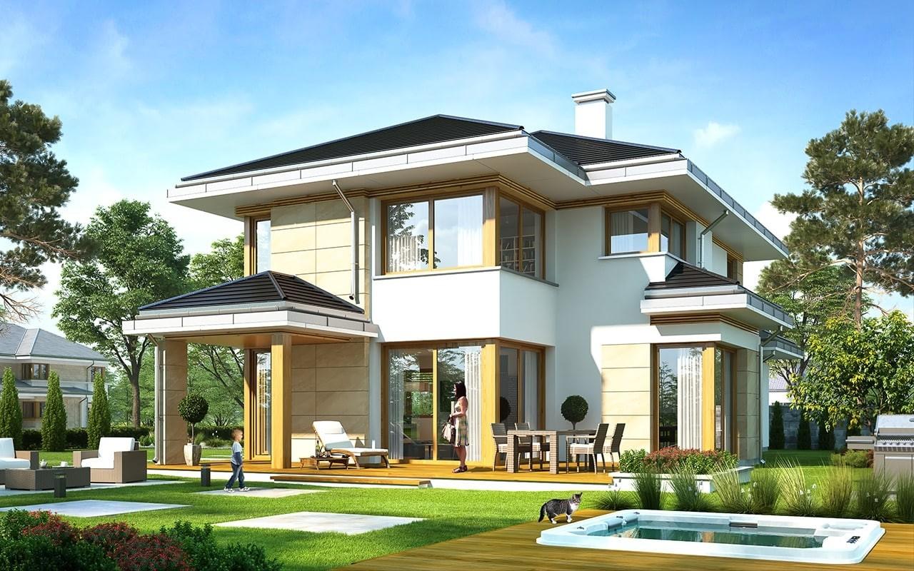 Projekt domu Dom z widokiem 5 - wizualizacja tylna