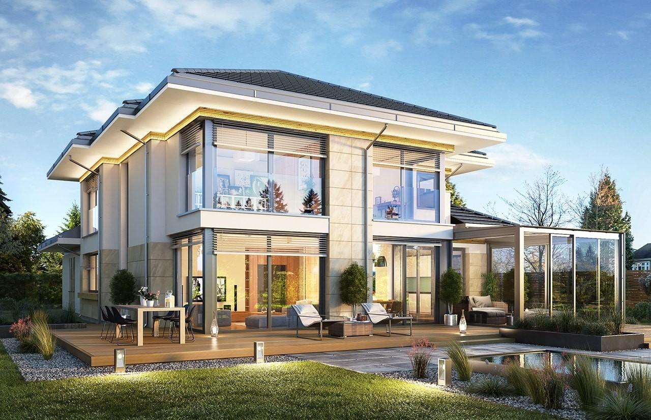 Projekt domu Dom z widokiem 6 B - wizualizacja tylna odbicie lustrzane