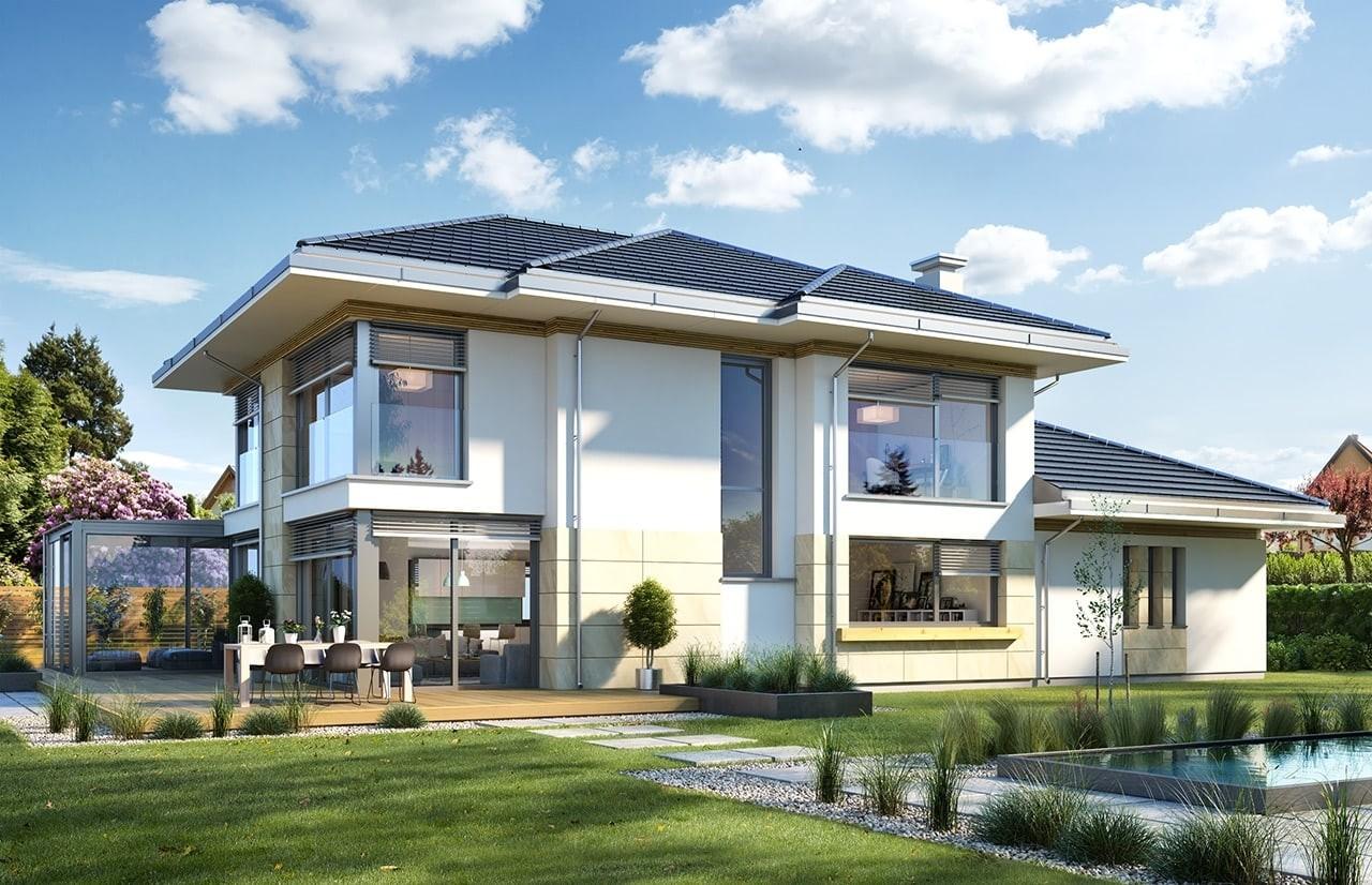 Projekt domu Dom z widokiem 6 B - wizualizacja tylna