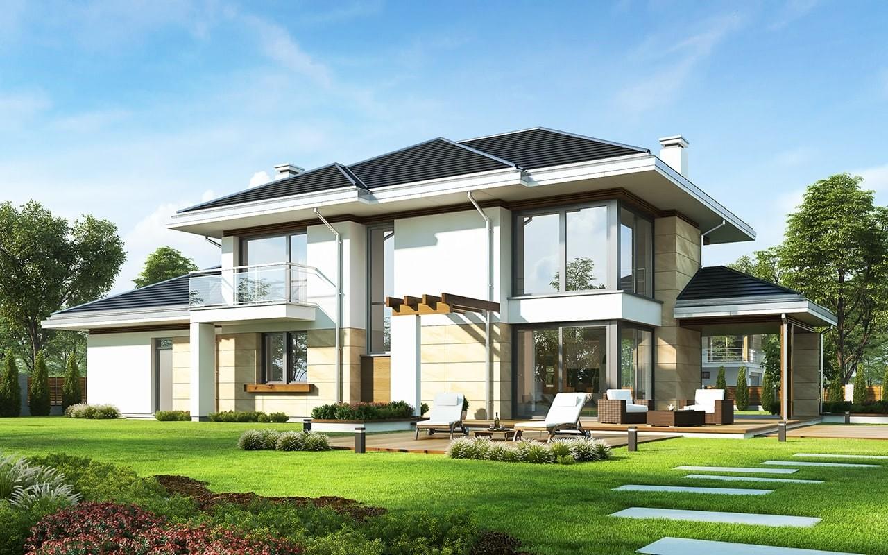 Projekt domu Dom z widokiem 6 - wizualizacja tylna