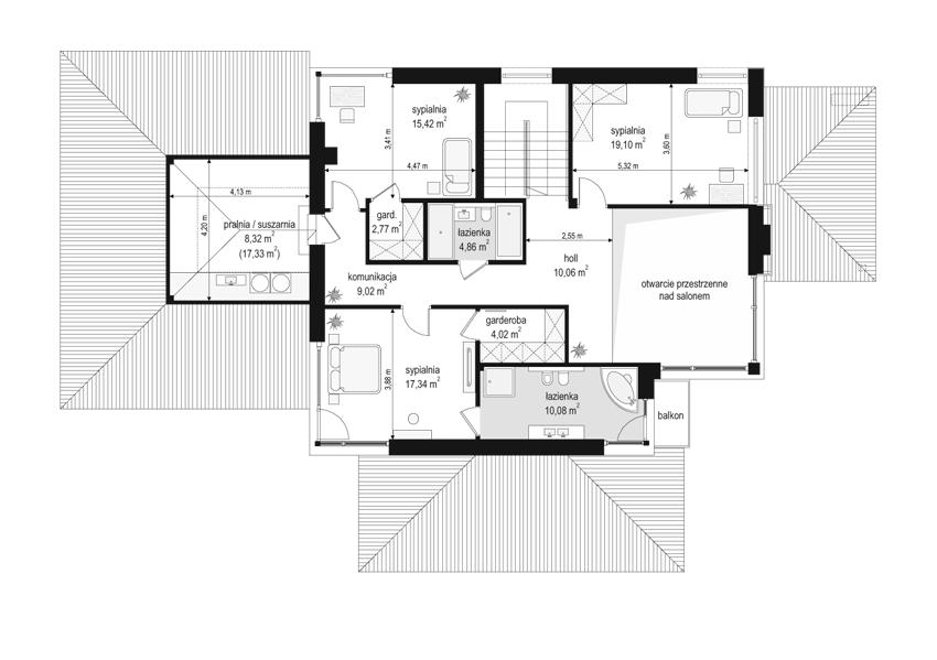 Dom z widokiem 2 - rzut piętra