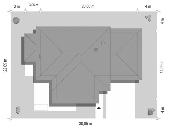 Dom z widokiem 2 - sytuacja odbicie lustrzane