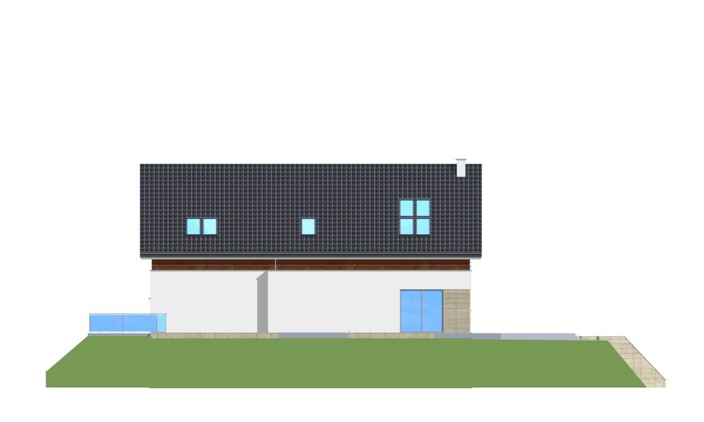 Dom na górce - elewacja tylna