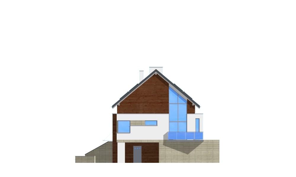 Dom na górce - elewacja boczna