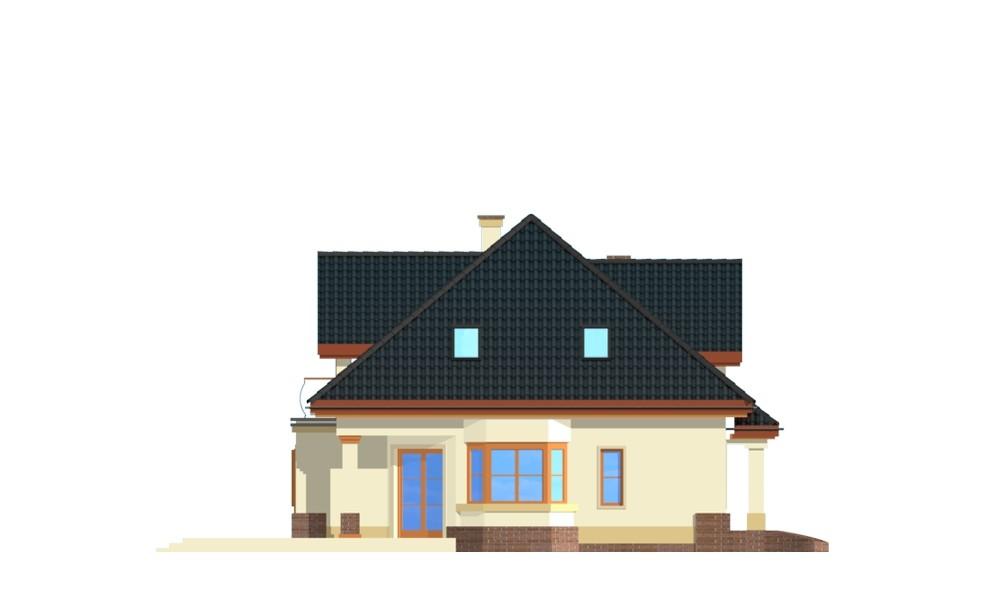 Dom na medal 2 - elewacja boczna