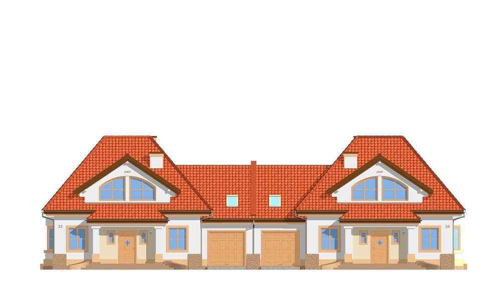 Dom na medal - bliźniak - elewacja frontowa