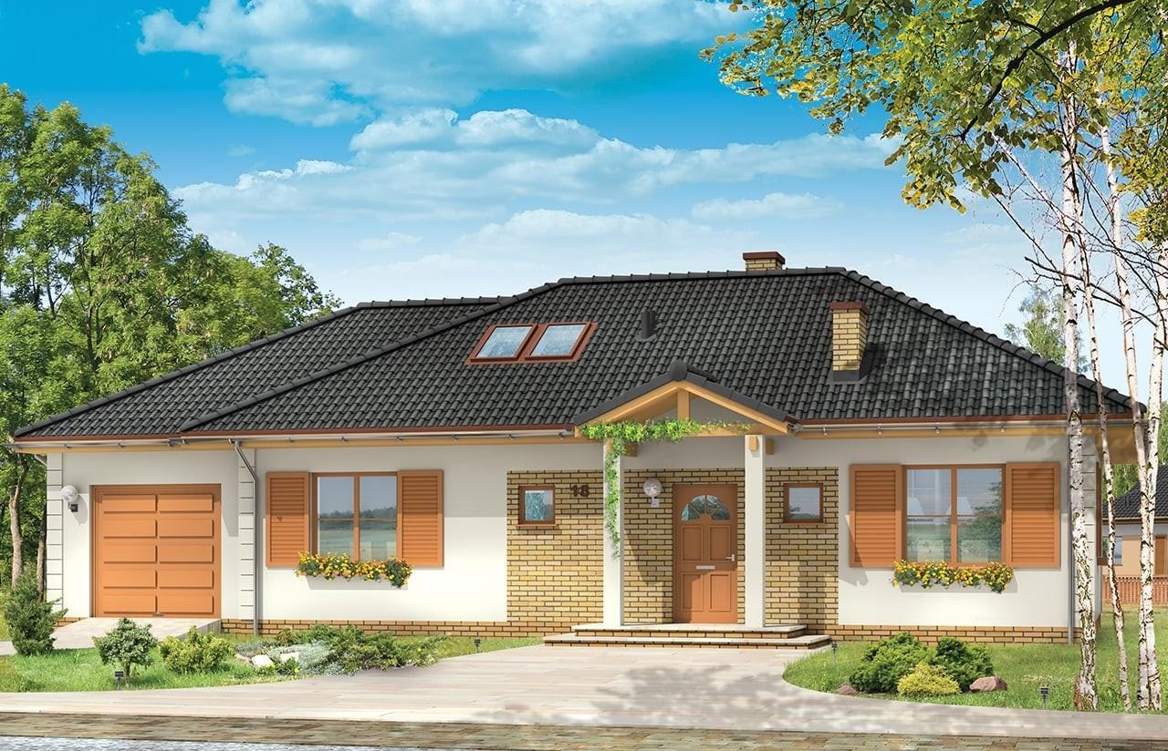 Projekt domu Dominik 2 - wizualizacja frontowa