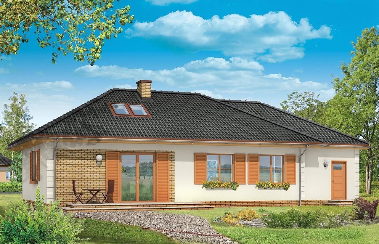 Projekt domu Dominik 2 - wizualizacja tylna