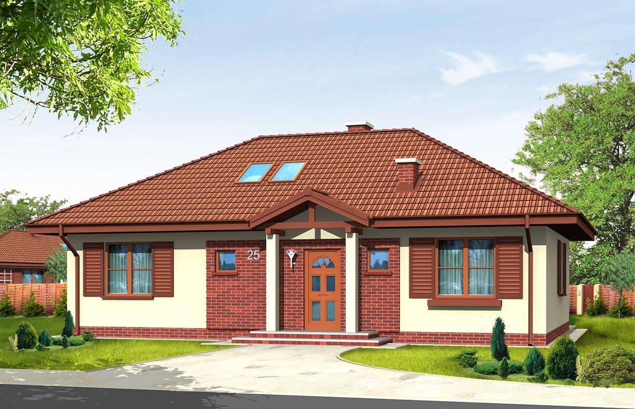 Projekt domu Dominik - wizualizacja frontowa