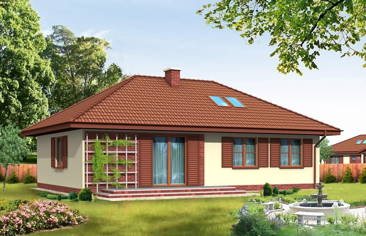 Projekt domu Dominik - wizualizacja tylna