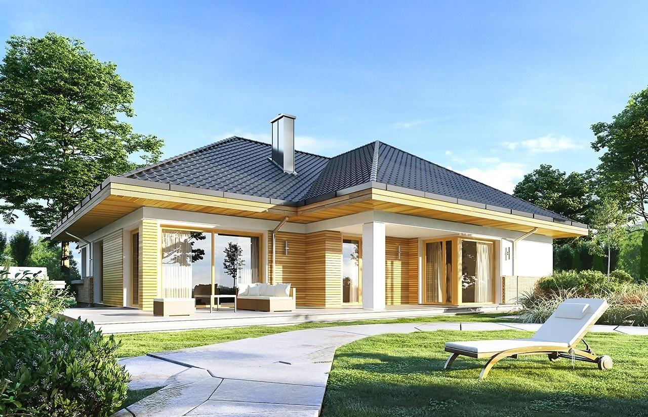 Projekt domu Doskonały 2 B - wizualizacja tylna