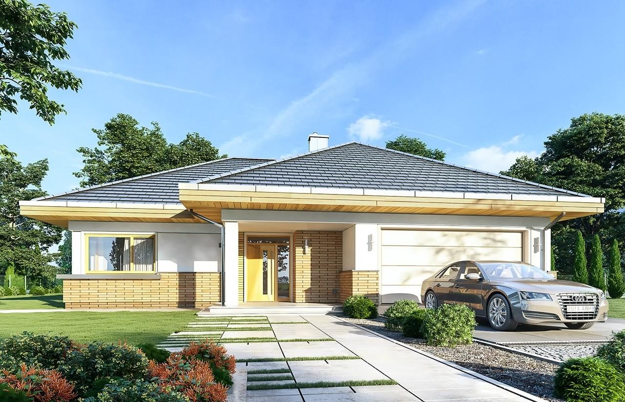 Projekt domu Doskonały 2 - wizualizacja frontowa