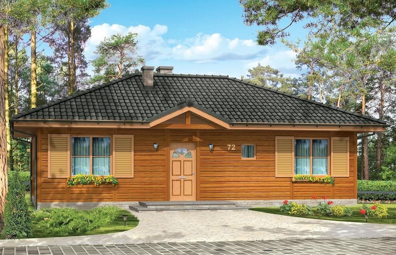 Projekt domu Dudek - wizualizacja frontowa 2