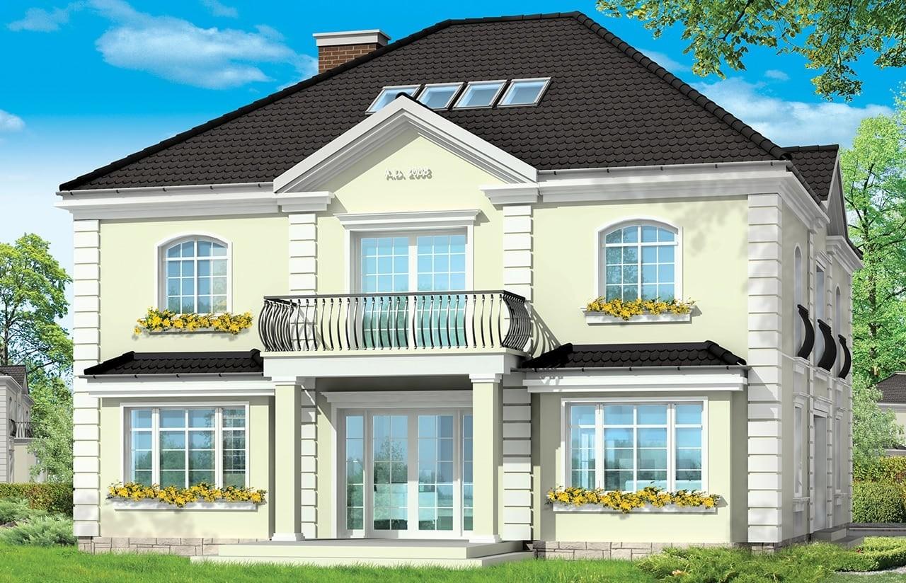 Projekt domu Elegancki - wizualizacja tylna
