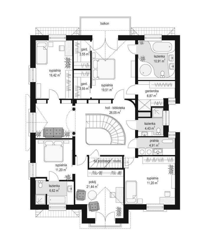 Elegancki - rzut piętra
