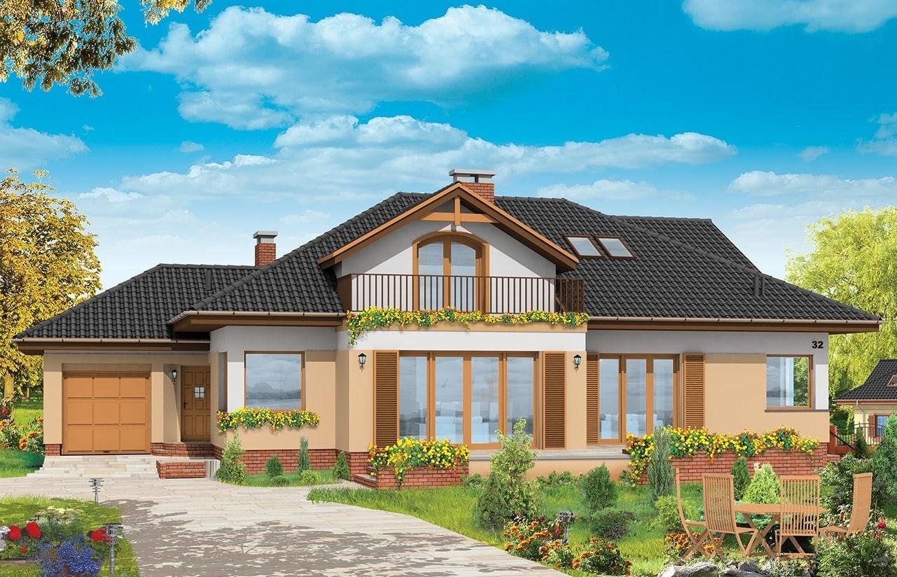 Projekt domu Familijny - wizualizacja frontowa