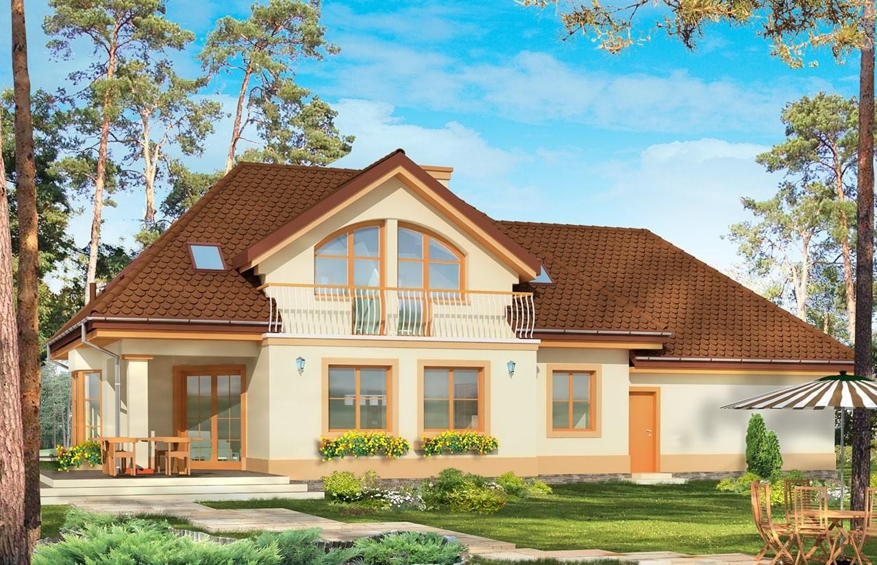 Projekt domu Faworyt 2 - wizualizacja tylna
