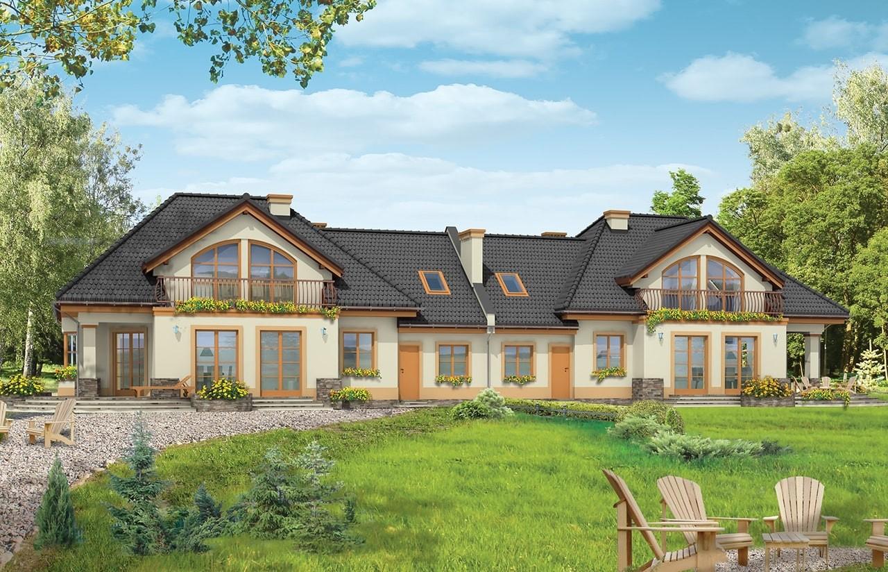 Projekt domu Faworyt 3 - wizualizacja tylna