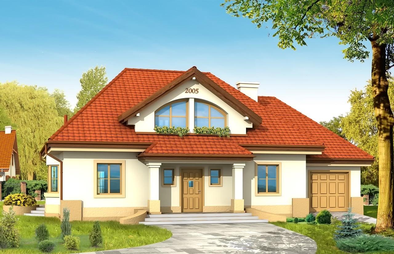 Projekt domu Faworyt - wizualizacja frontowa